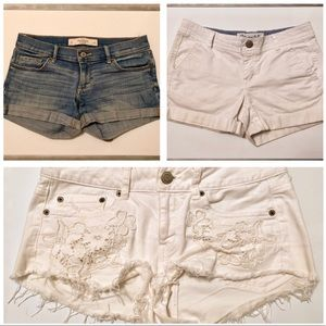 Shorts from AE and Abercrombie 3 pairs size 2